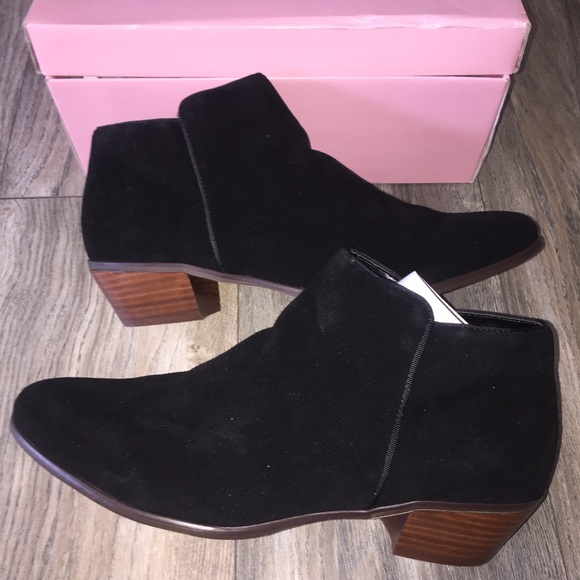 Crown Vintage Shoes - New Crown Vintage Black Suede Tabitha Booties 12M